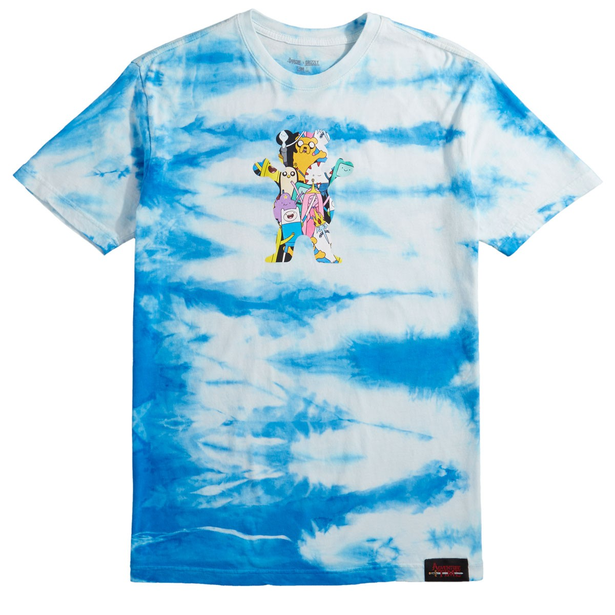 Grizzly X Adventure Time Like Your Brain And Stuff T Shirt Tie Dye