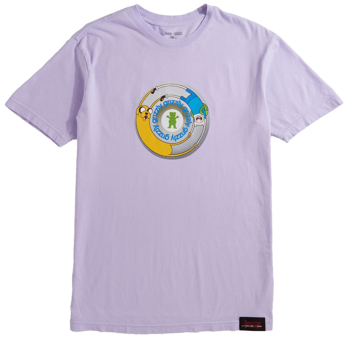 Grizzly X Adventure Time Lets Get Stupid T Shirt Lavender