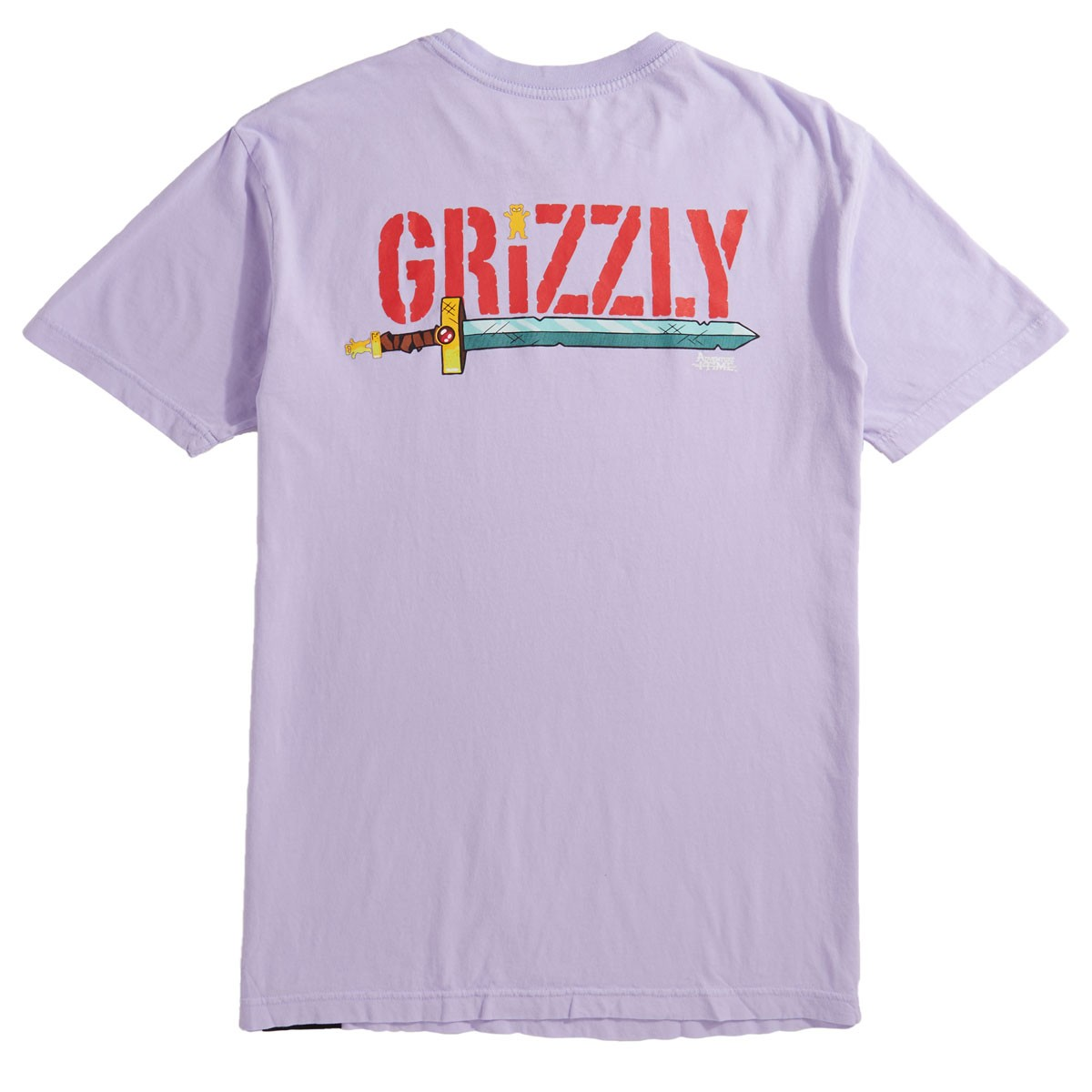 e7e71f87 Grizzly X Adventure Time Lets Get Stupid T-Shirt - Lavender
