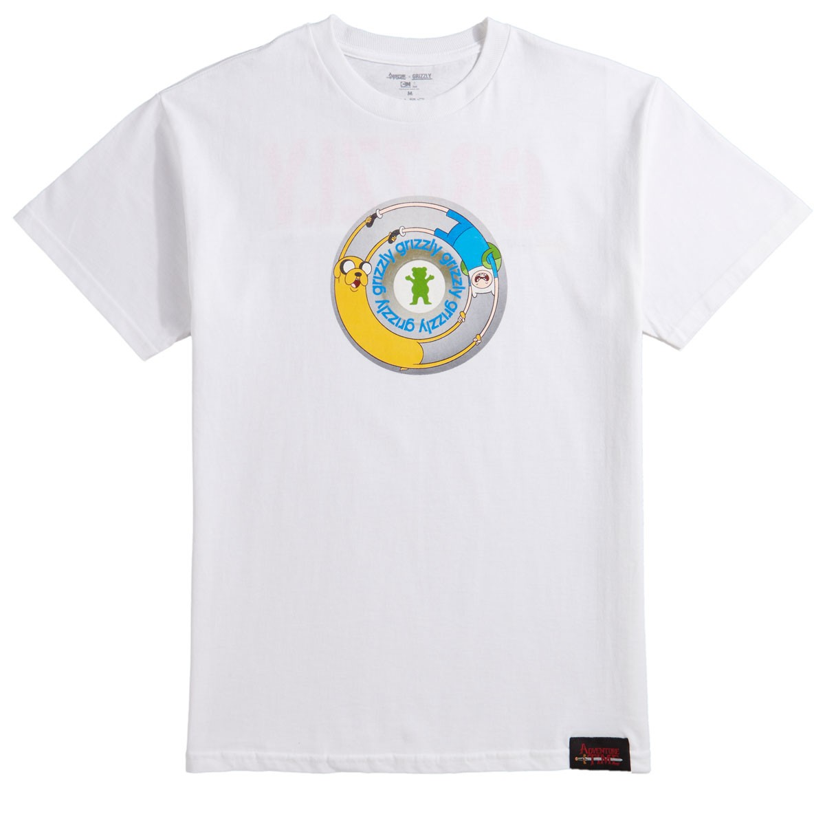 Grizzly X Adventure Time Lets Get Stupid T Shirt White