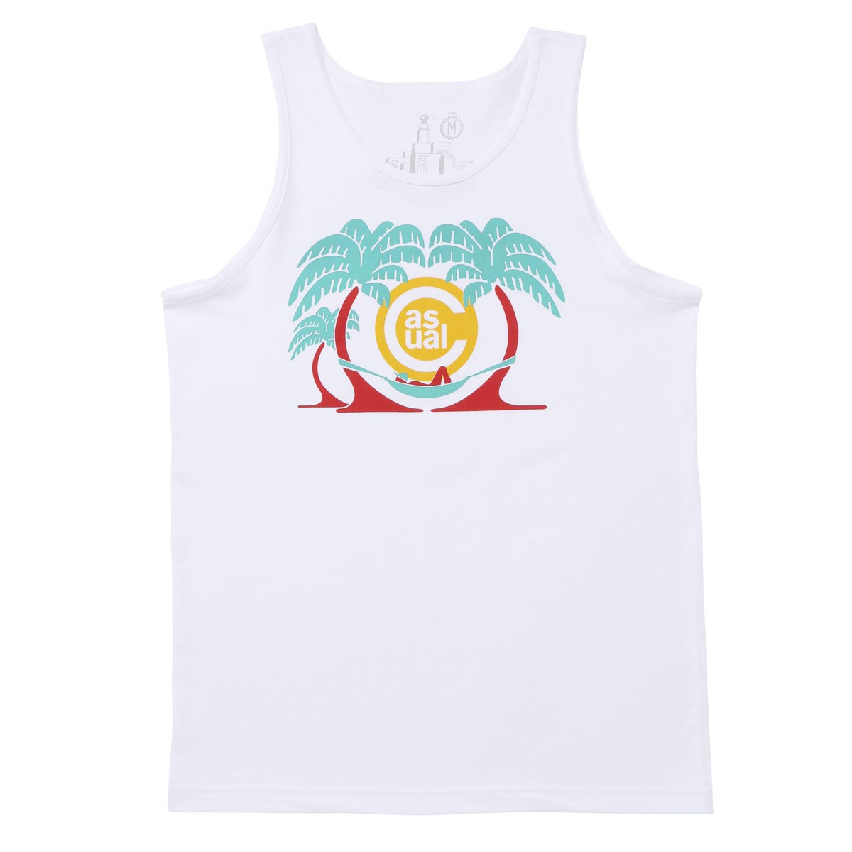 Casual Industrees In The Palm Trees Tank Top - White