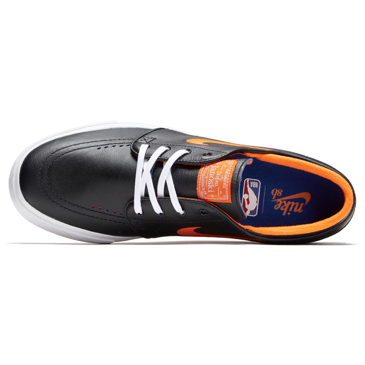435d6e994 Nike SB x NBA Zoom Janoski Shoes - Black Brilliant Ornge Rush Blue -