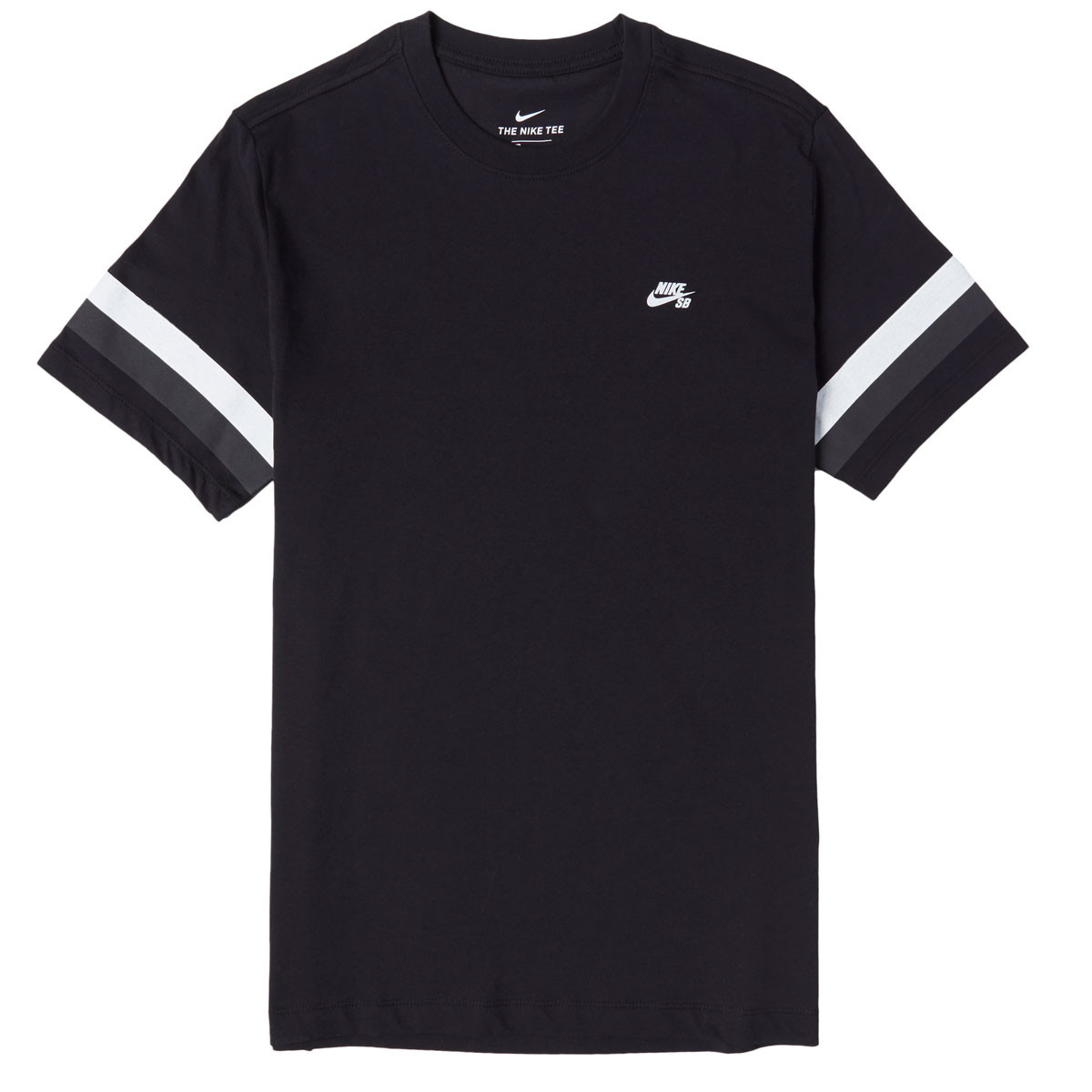 aesthetic appearance many fashionable unique design Nike SB Sleeve Stripe T-Shirt - Black/Thunder Grey