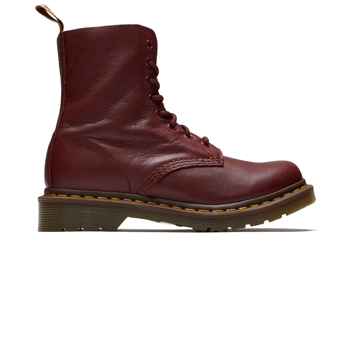 63ec21f7db836 Dr. Martens Womens 1460 8 Eye Pascal Leather Boots - Cherry Red