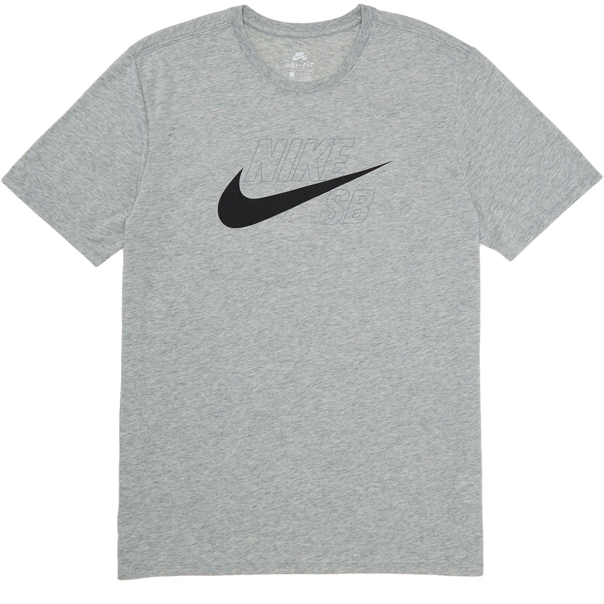 91206971 Nike SB Dri-Fit Swoosh Logo T-Shirt - Dark Grey Heather/Black