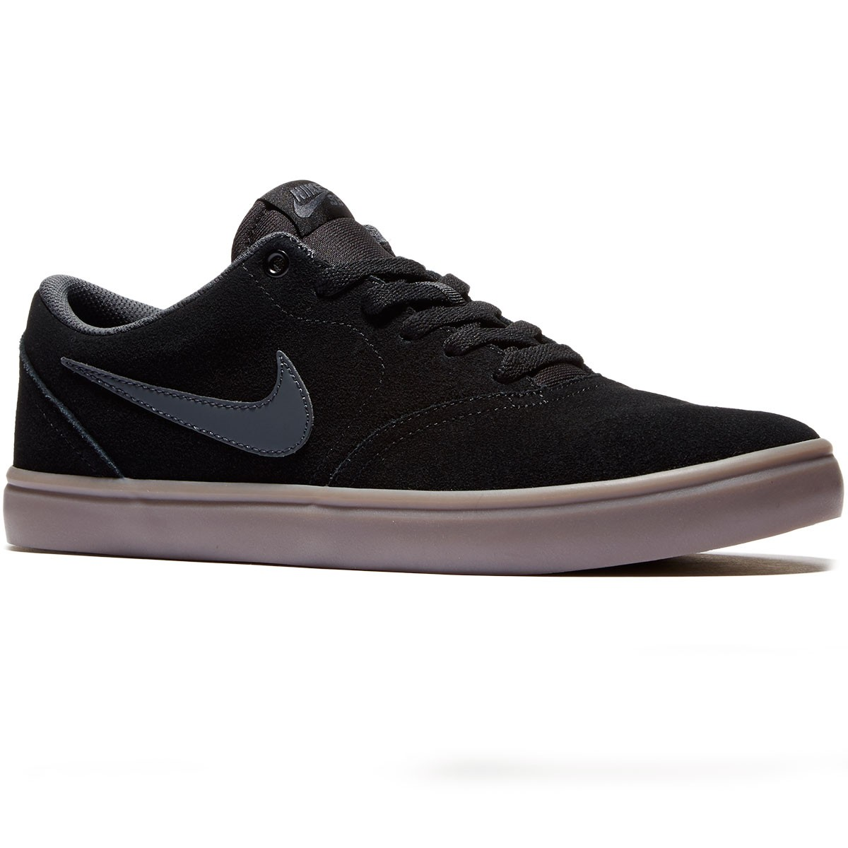 Nike SB Check Solarsoft Shoes - Black/Gum/Brown/Anthracite - 6.0