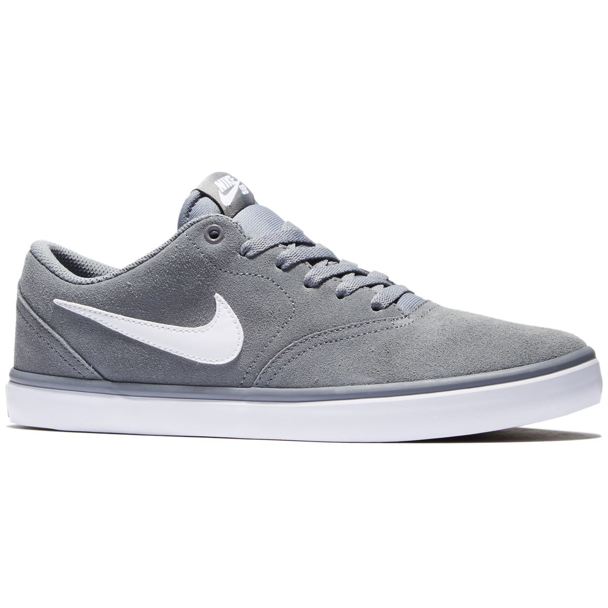 Nike SB Check Solarsoft Shoes - Cool Grey/White - 7.0