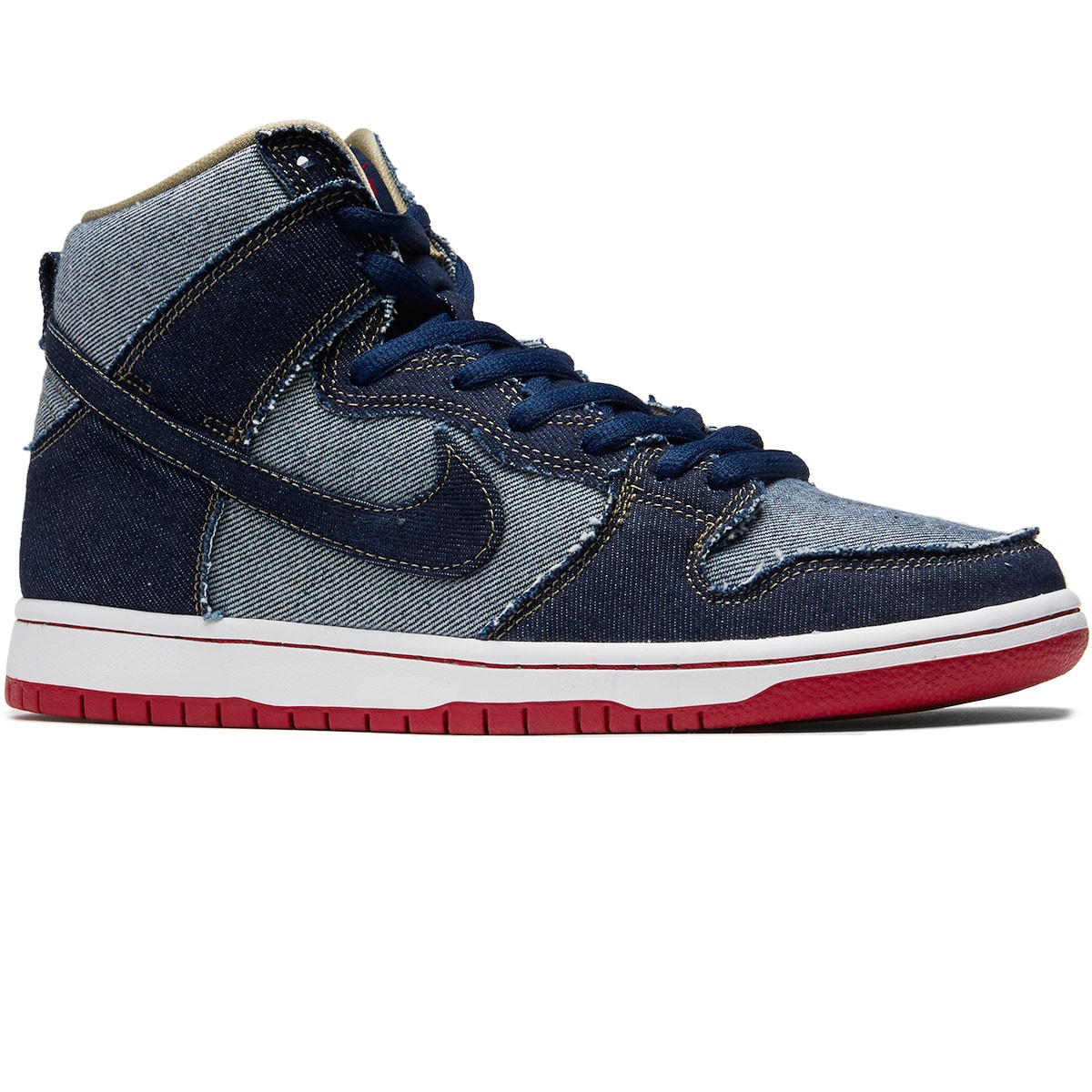 competitive price 30aec 1da23 Nike SB Denim Dunk High TRD Shoes - Midnight Navy White - 4.0