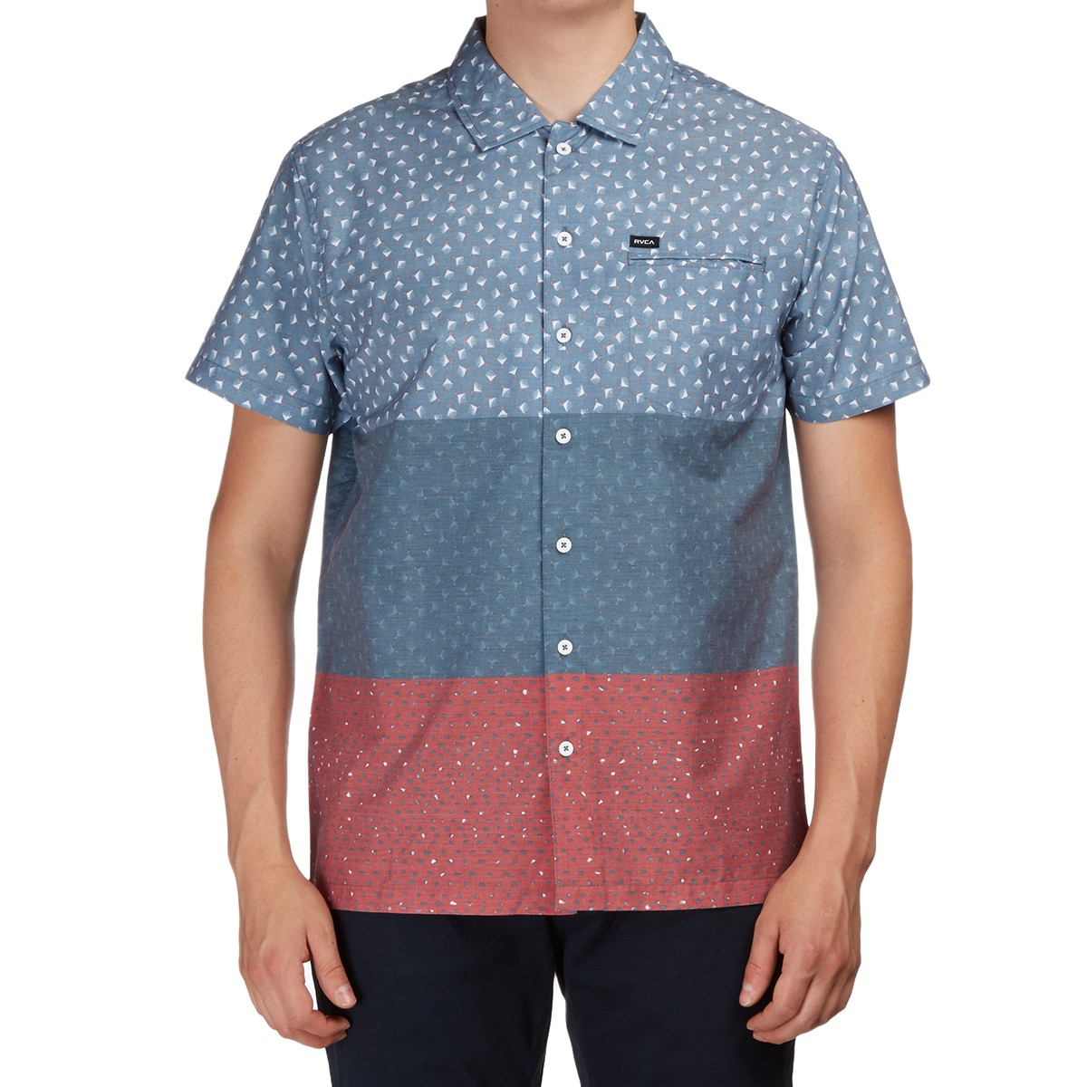 RVCA Triple Short Sleeve Shirt - Dark Denim
