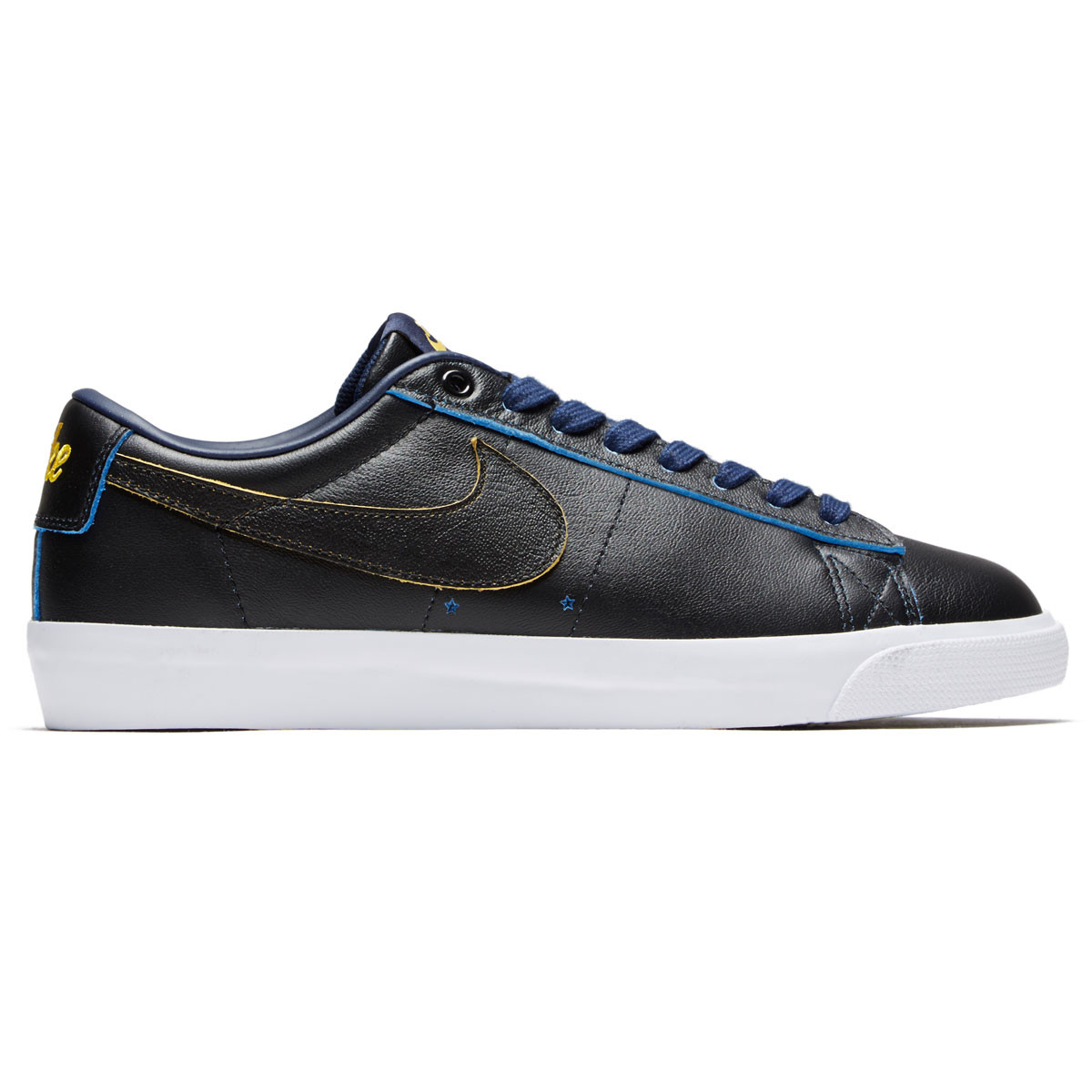 098e6490f75631 Nike SB x NBA Blazer Low GT Shoes - Black Black Amarillo Coast