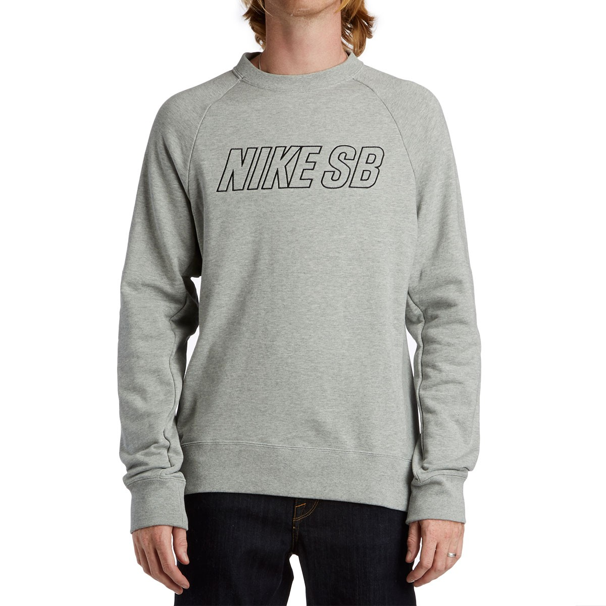 Nike Sb Everett Reveal Crew Sweatshirt Dark Grey Heather