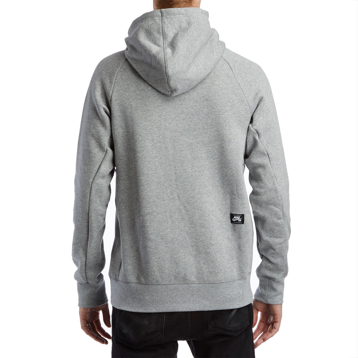SB Icon Dots Hoodie - Dark Grey Heather/Black