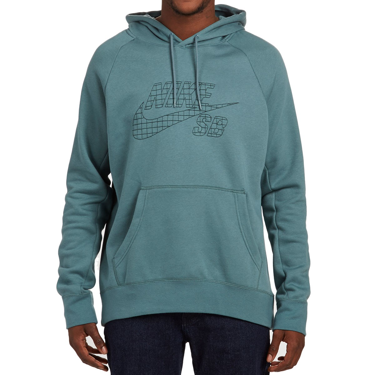5a323a7ad387 Nike SB Icon Grid Fill Pullover Hoodie - Hasta Seaweed