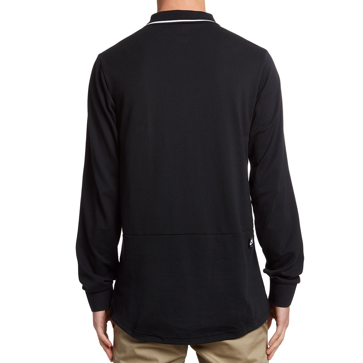 Nike SB Pique Long Sleeve Polo Shirt - Black/Anthracite