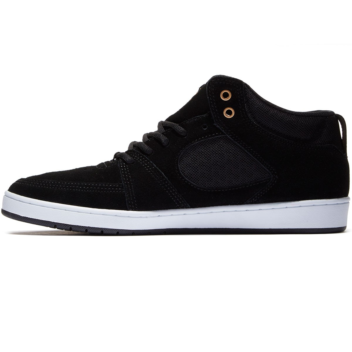 Es Accel Slim Mid Shoes Black White Gum