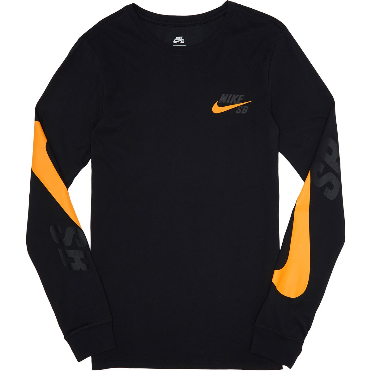 Nike SB Tonal Long Sleeve T-Shirt - Black Black Circuit Orange 9e681c3e871b