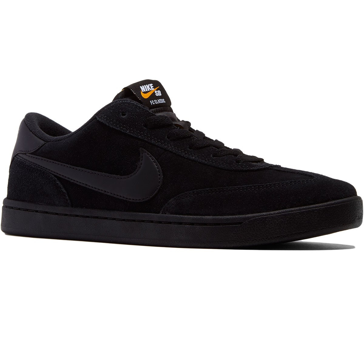 7d038e92d4d0ef Nike SB FC Classic Shoes - Black White Vivid Orange - 8.0