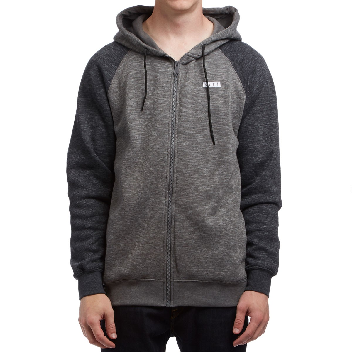 Neff Daily Zip Hoodie Charcoal Heather Jaket Army Gear Tactical Import Tad