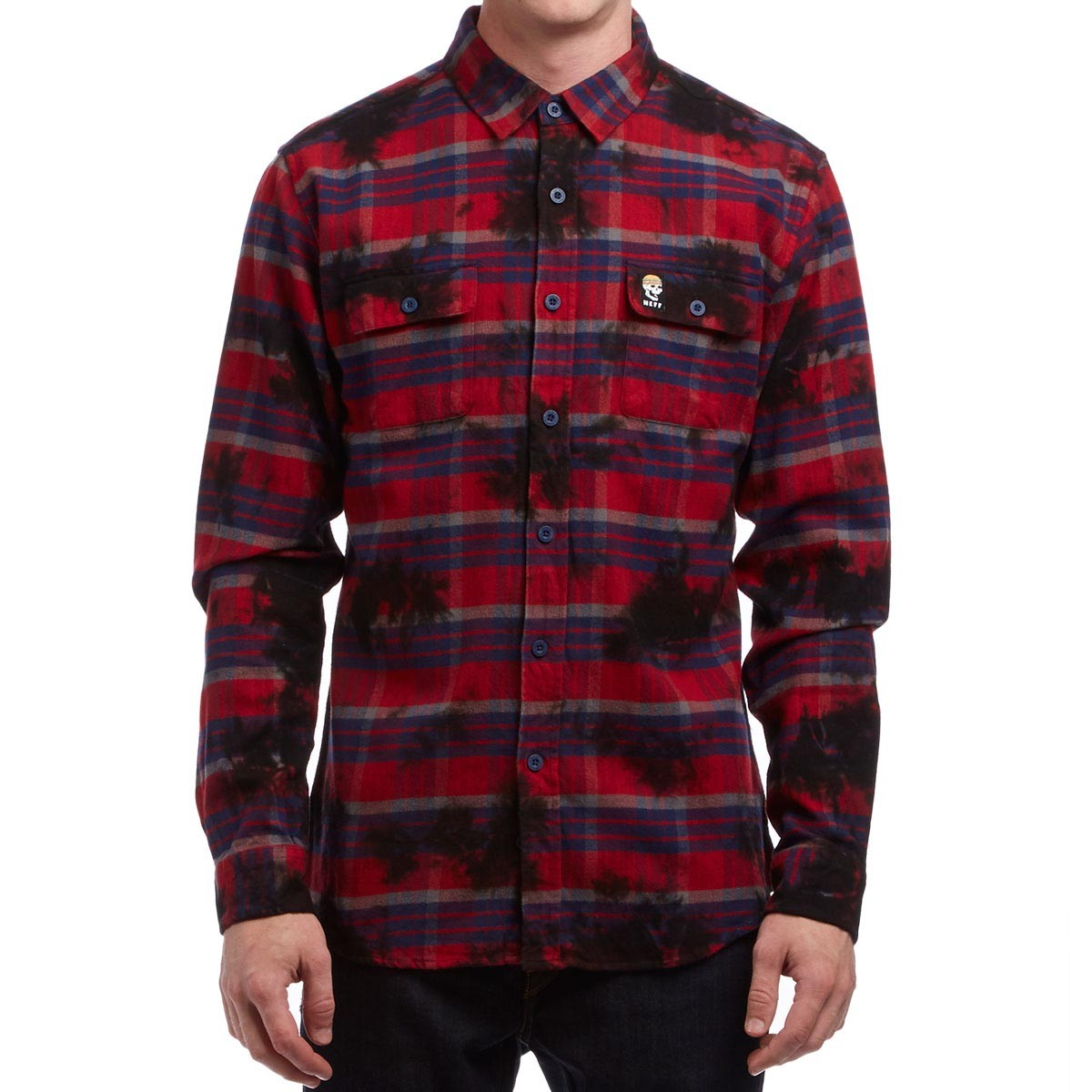 Neff burger boys flannel shirt red for Places to buy flannel shirts