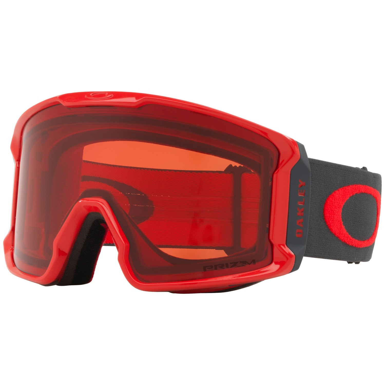 Oakley Line Miner Snowboard Goggles Red Forged Iron Prizm Rose