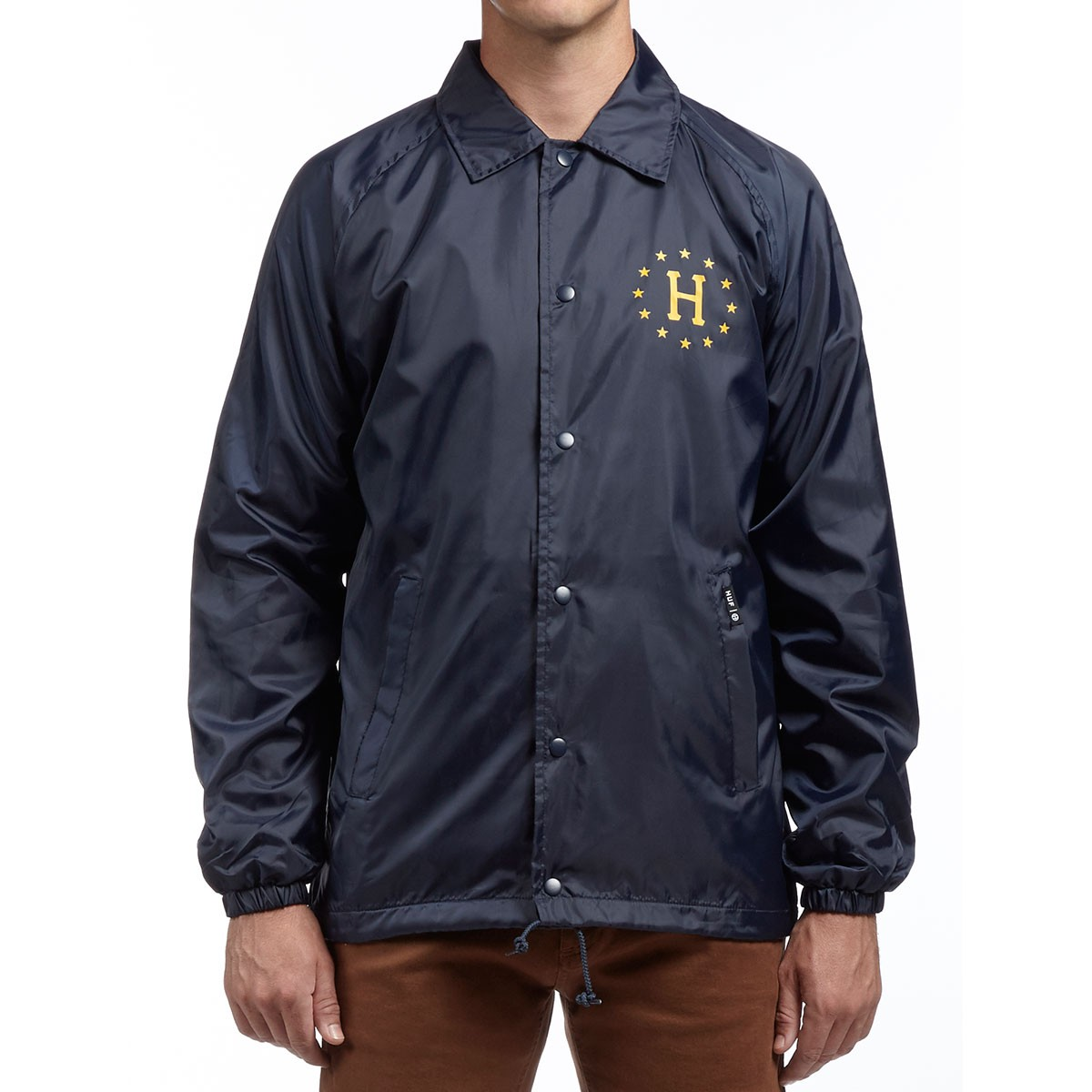 274b44ac2f84 HUF Recruit Coaches Jacket - Navy