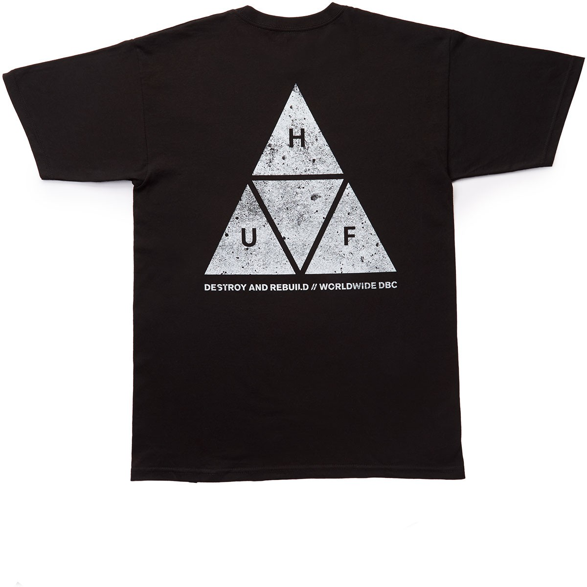 HUF Concrete Triple Triangle T-Shirt - Black
