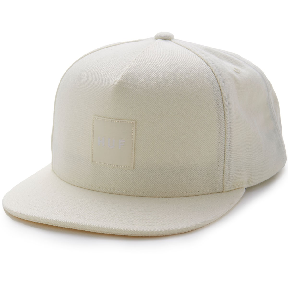 Huf Box Logo Snapback Hat - Off White