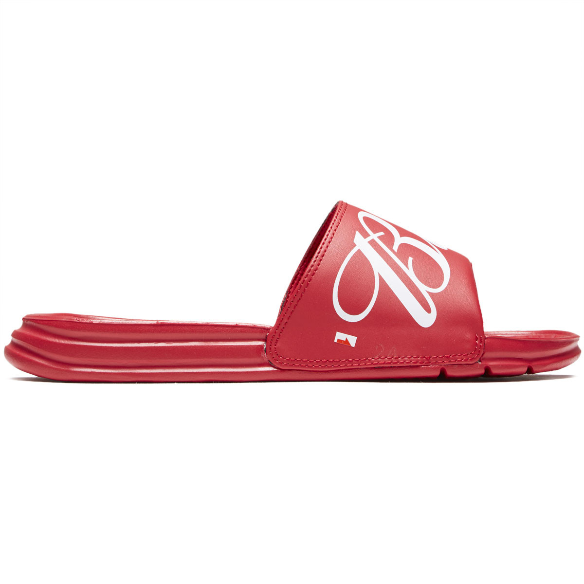 a6f78c8a87 HUF x Budweiser Slide Shoes - Red - 10.0