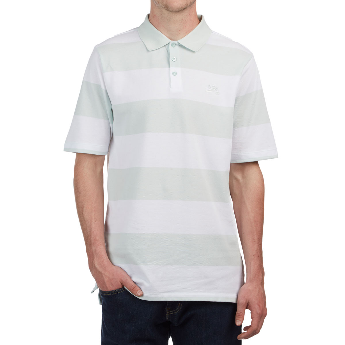 44e6e297 Nike SB Dry Polo Stripe Shirt - Barely Grey
