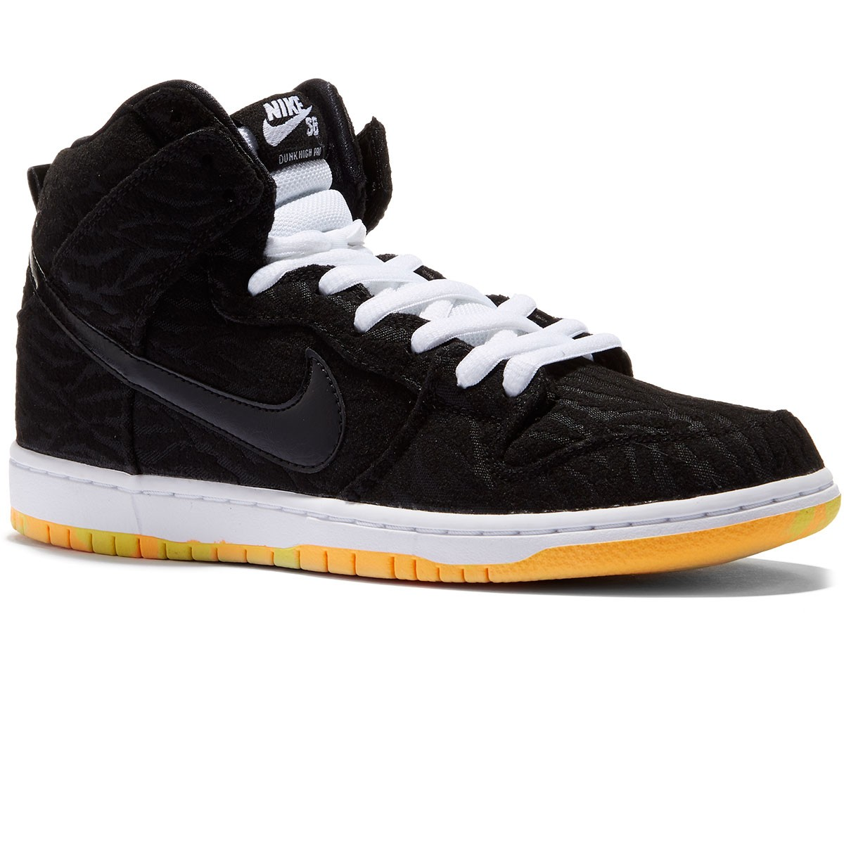 Nike Dunk High Pro SB Shoes - Black/White/Laser Orange - 10.0