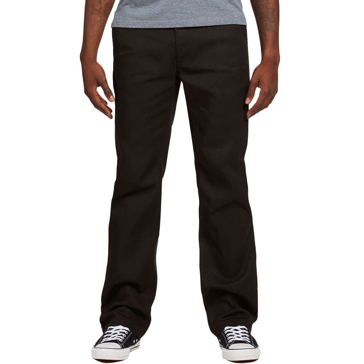 Fleet Rigid Chino in Relaxed Fit - Black Brixton