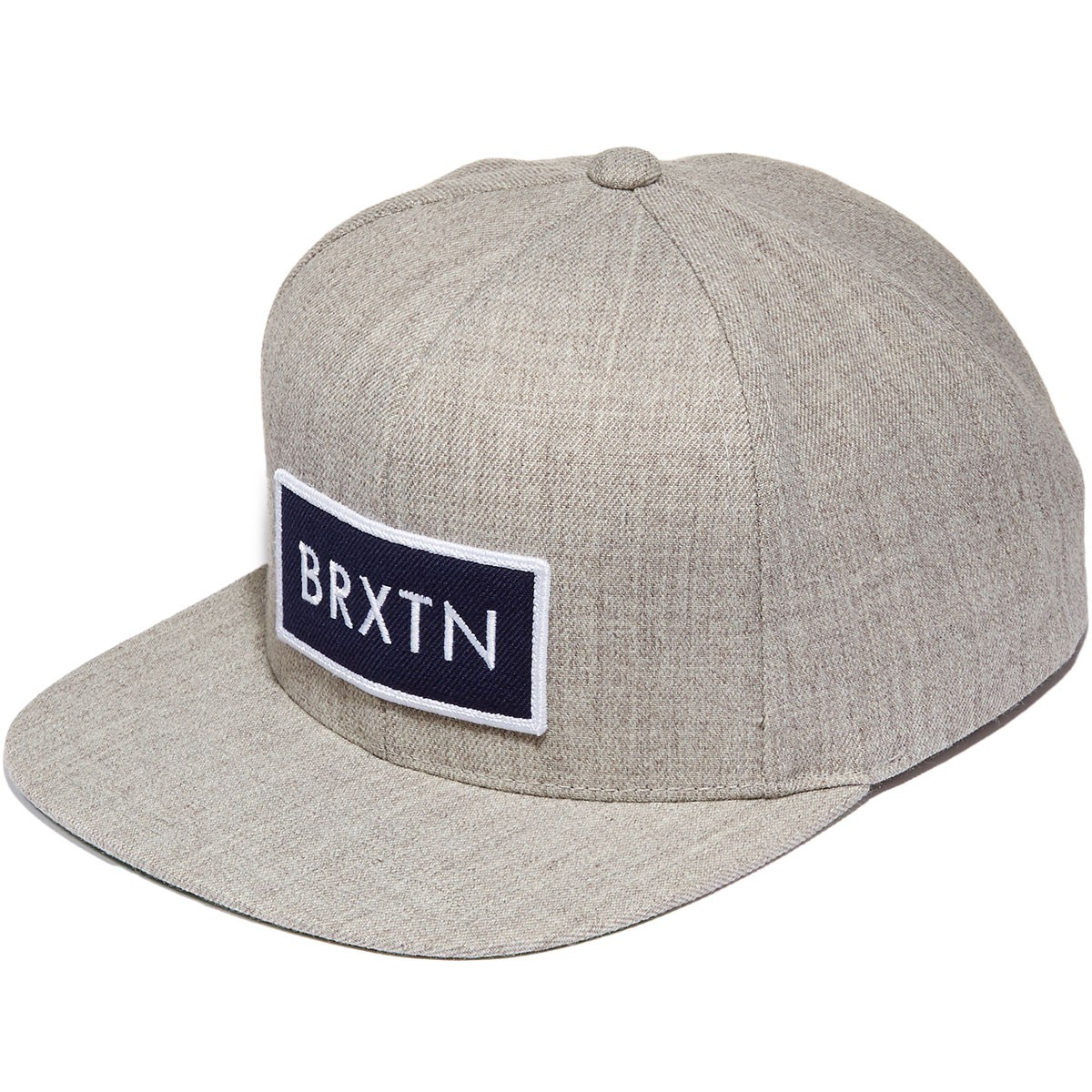 Brixton Rift Snapback Hat - Heather Grey/Navy