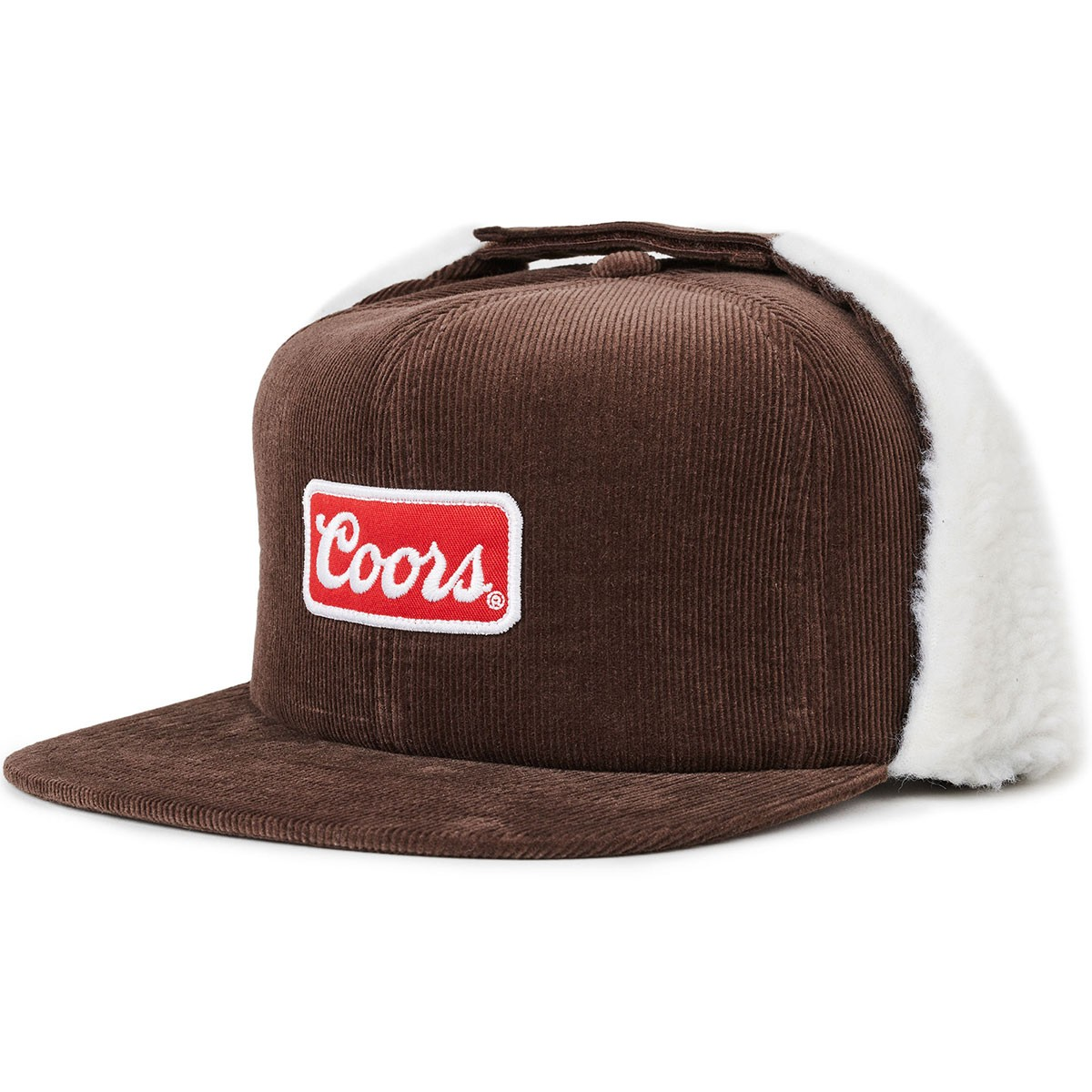 Brixton X Coors Signature HP Ear Flap Snapback Hat - Brown 2c702560c91