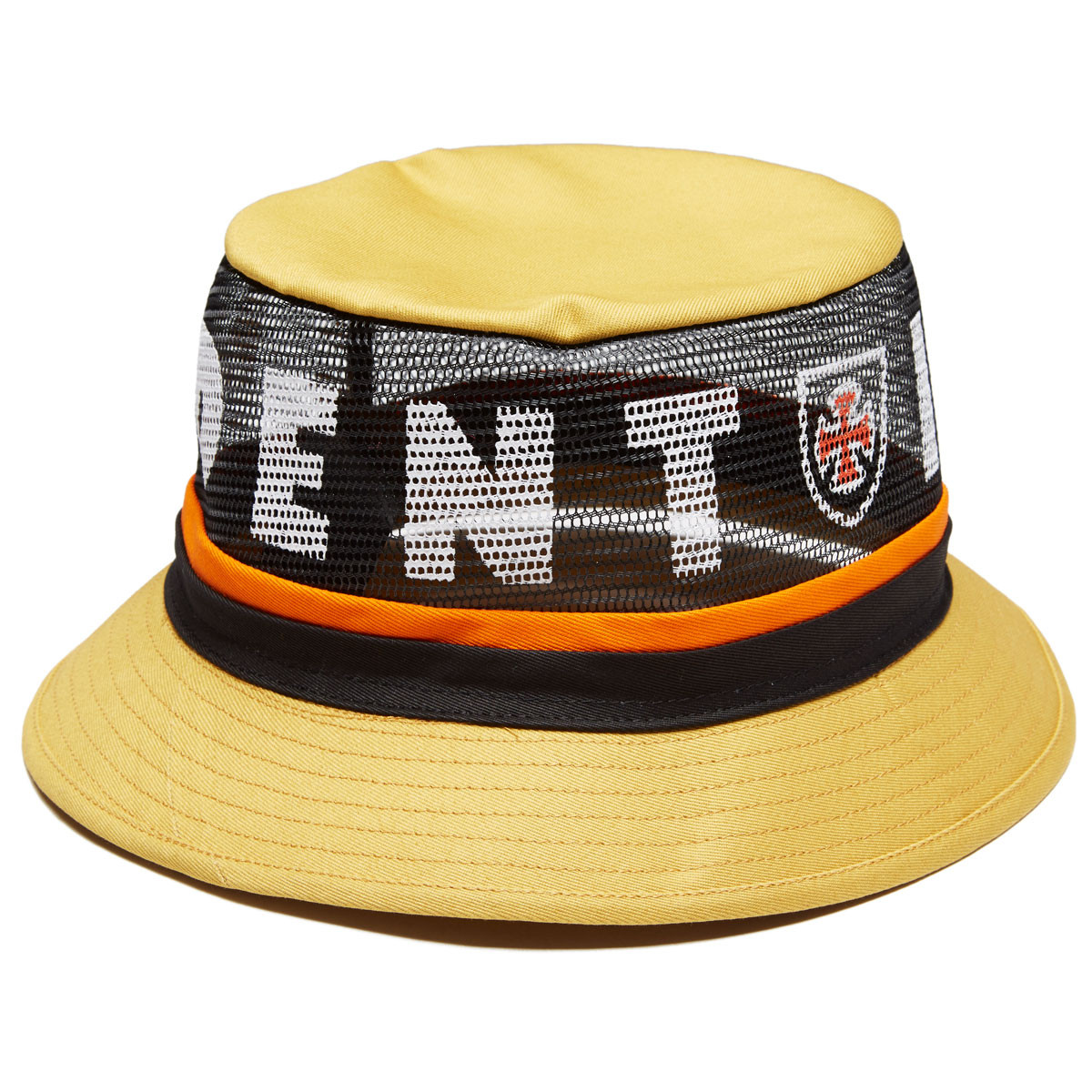 5761a75a5ea1a Brixton x Independent F U Hardy Bucket Hat - Yellow - LG