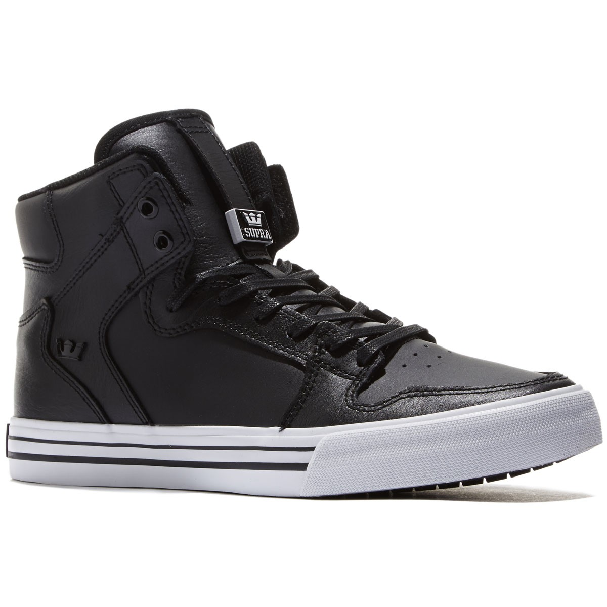 400eb4e55ad0 Supra Vaider Shoes - Black White - 8.0