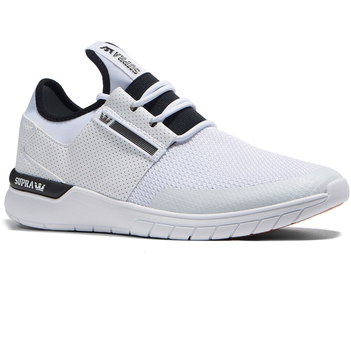 ee2a3f277689 Supra Flow Run Shoes - White White - 8.0