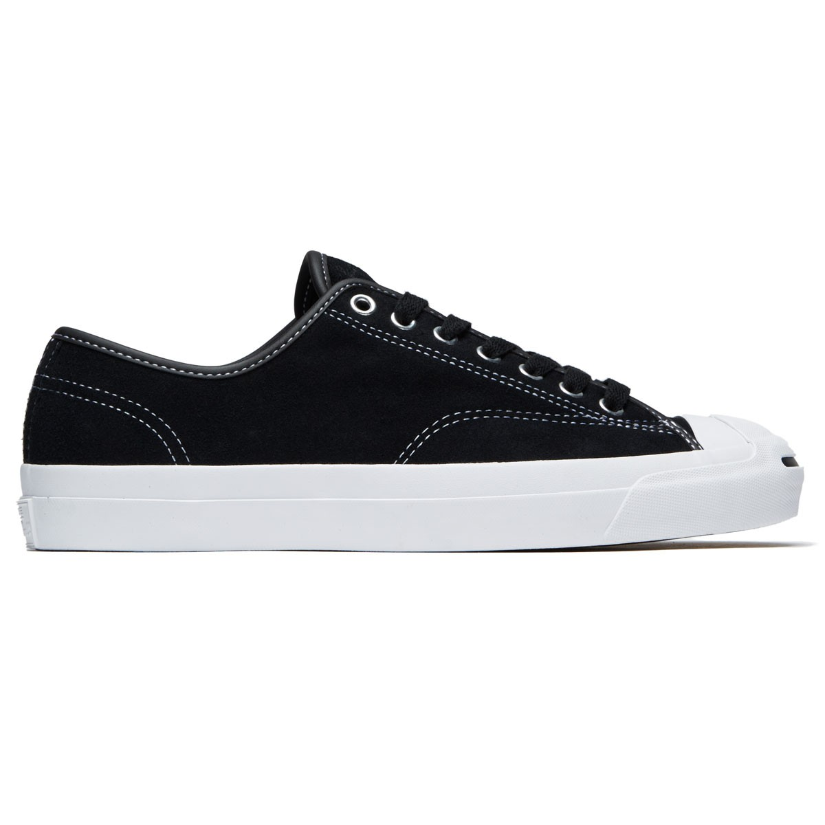 d7f90fd10502 Converse Jack Purcell Pro Shoes - Black Black White Suede - 7.0