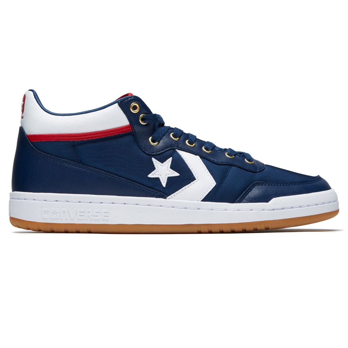 c527803fdde9 Converse Fastbreak Pro Mid Shoes - Navy White Enamel Red - 10.0