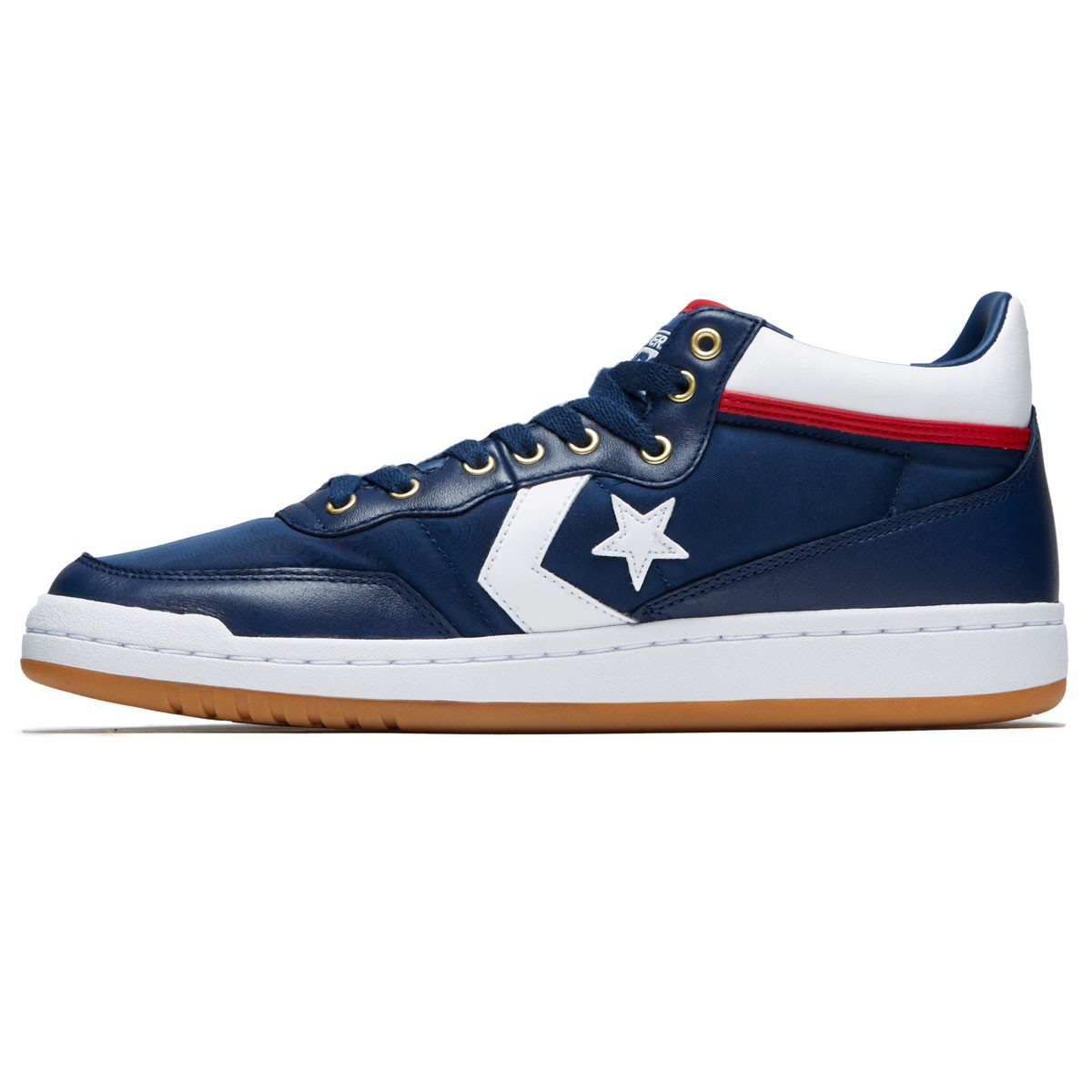 Converse Fastbreak Pro Mid Shoes - Navy White Enamel Red - 10.0 bb9c62eea