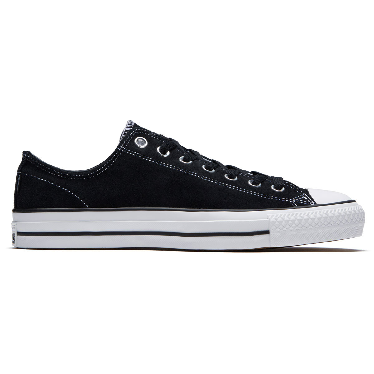 07e543bd747d Converse CTAS Pro OX Suede Shoes - Black Black White - 6.0