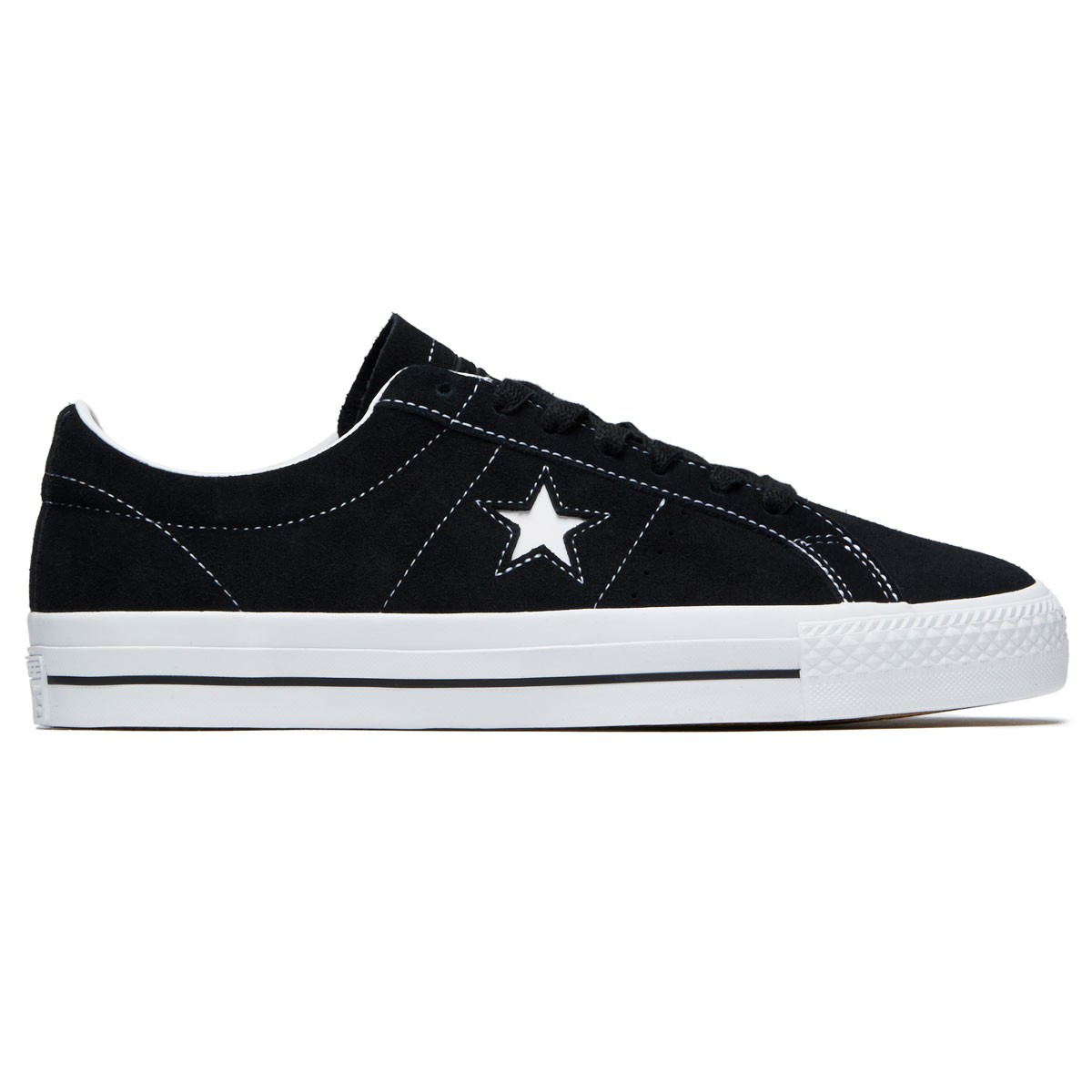 bc362182aaa7 Converse One Star Pro Ox Shoes - Black White White - 8.0