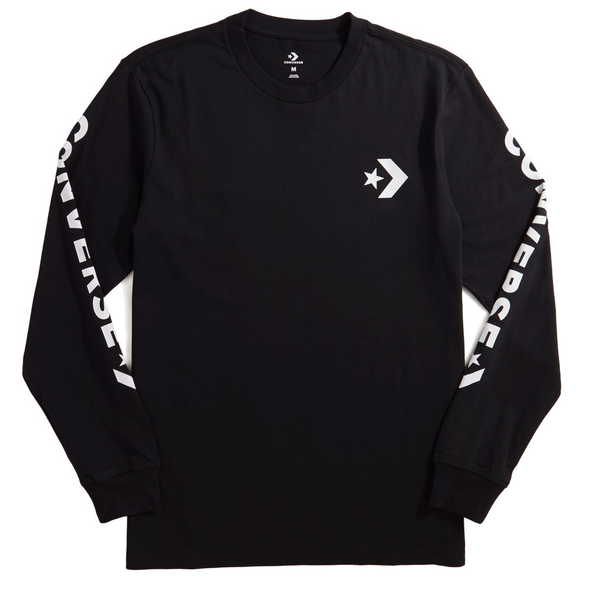 a8e4eabd924d Converse Star Chevron Wordmark Long Sleeve T-Shirt - Black