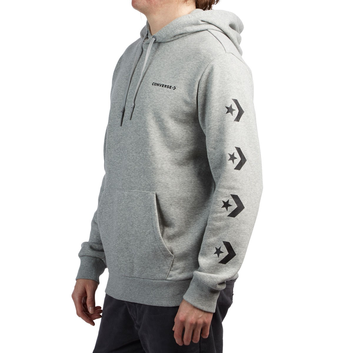 21d48ca5d548 Converse Star Chevron Pullover Hoodie - Vintage Grey Heather