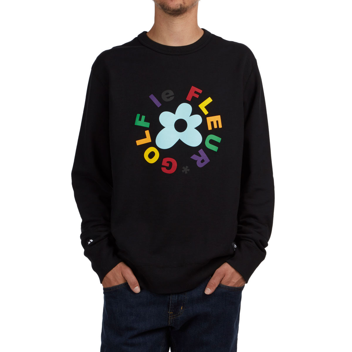 Converse X Golf Le Fleur Essentials Crew Sweatshirt Black
