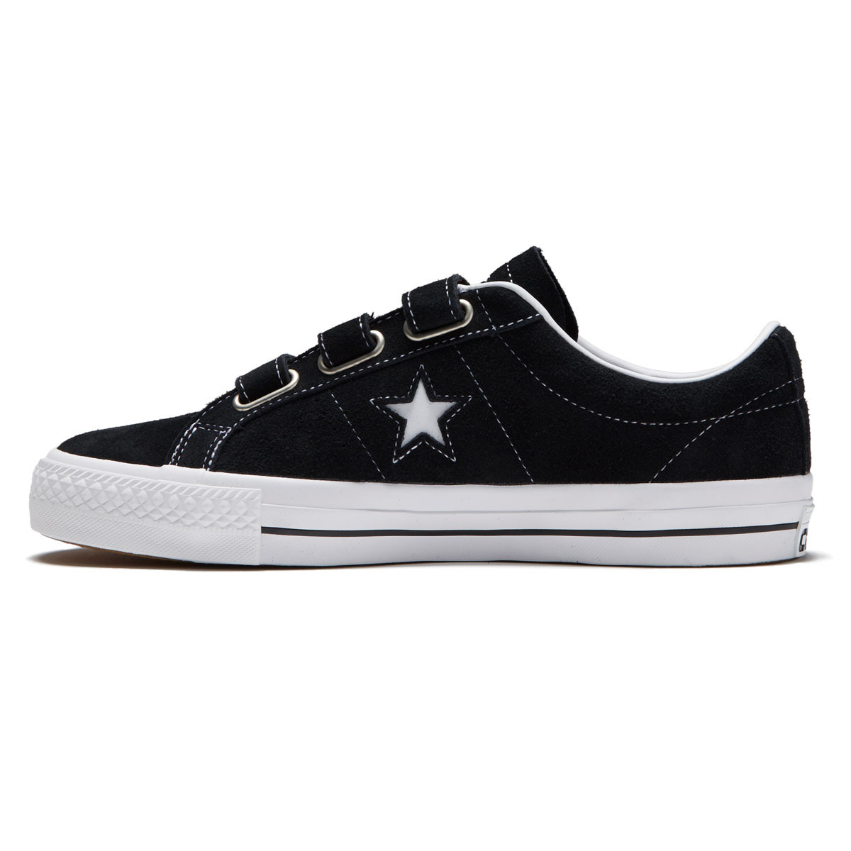 43a84f3901f273 Converse One Star Pro 3V Shoes - Black Pomegranate Red White - 10.0