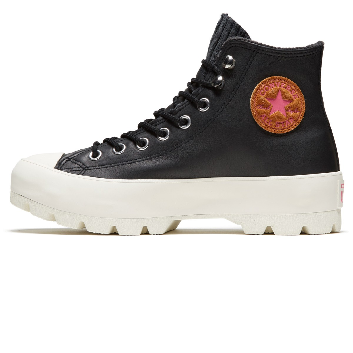 Converse Womens Chuck Taylor All Star Lugged Winter Retrograde Shoes Gold DartOlive FlakEgret
