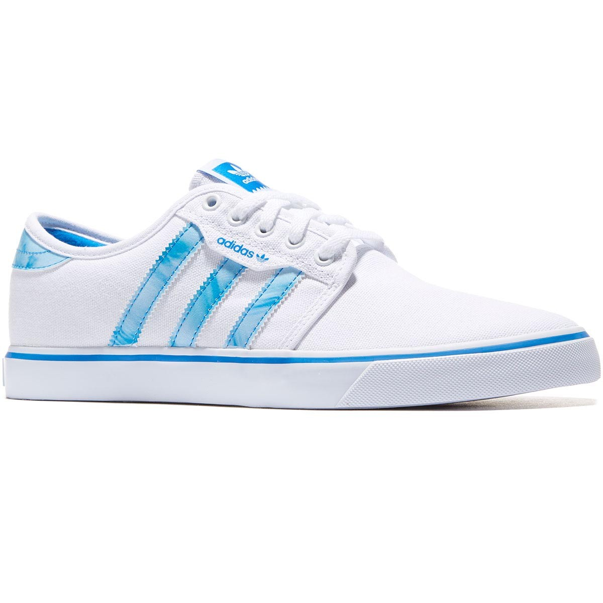 Adidas Seeley Shoes - White/Bluebird/White - 8.0