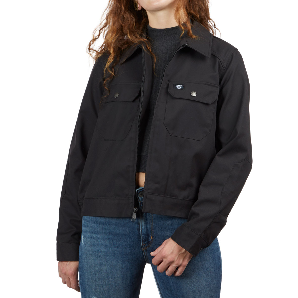 a4d4e2700ed0c Dickies Womens Twill Military Jacket - Black