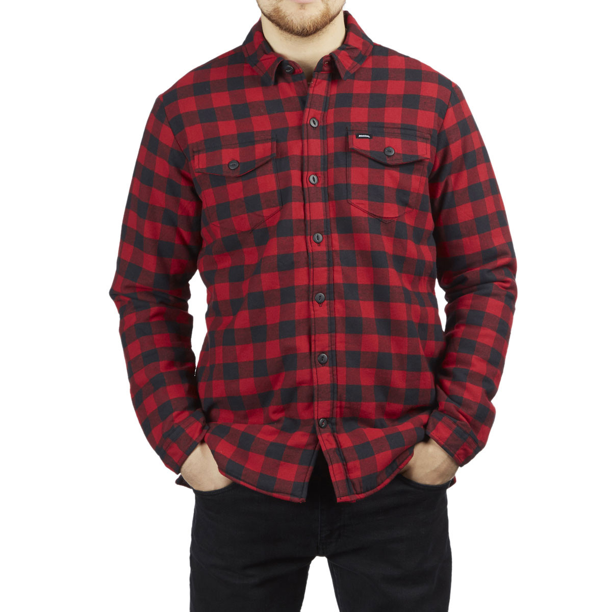 Dickies Flannel Shirt Sherpa Lined Jacket - Rinsed Green Black ... 63d680c7c96