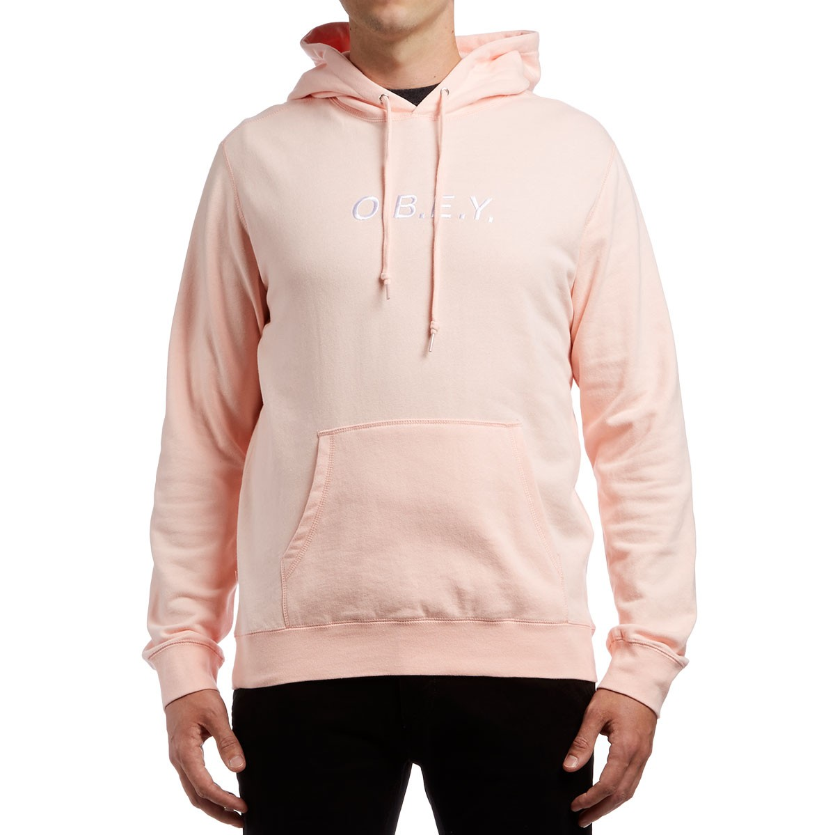 Obey Contorted Hoodie - Pink